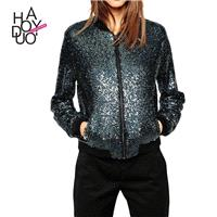 Ladies fall 2017 new jacket style baseball uniform casual jackets - Bonny YZOZO Boutique Store