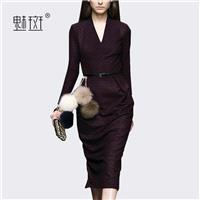 Attractive Slimming V-neck 9/10 Sleeves Pencil Skirt Dress - Bonny YZOZO Boutique Store