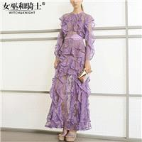 Vogue Seen Through Frilled Sleeves Slimming Summer Frilled Lace Dress - Bonny YZOZO Boutique Store