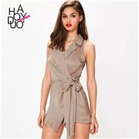 Vintage Slimming Curvy Satin Summer Suit Jumpsuit - Bonny YZOZO Boutique Store