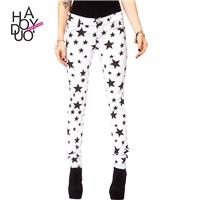 Vogue Printed Slimming Cowboy Star Summer Skinny Jean Pencil Trouser - Bonny YZOZO Boutique Store