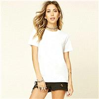 Must-have Vogue Simple Scoop Neck One Color Summer Short Sleeves Color Essential T-shirt - Bonny YZO