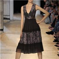 Vogue V-neck Sleeveless Trail Dress Spring Lace Dress - Bonny YZOZO Boutique Store