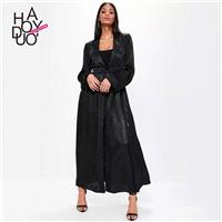 Vogue Attractive Curvy One Color Fall Casual Coat - Bonny YZOZO Boutique Store