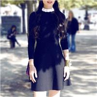 2017 new temperament slim spring basics sweater dress knit long sleeve dress trend school - Bonny YZ